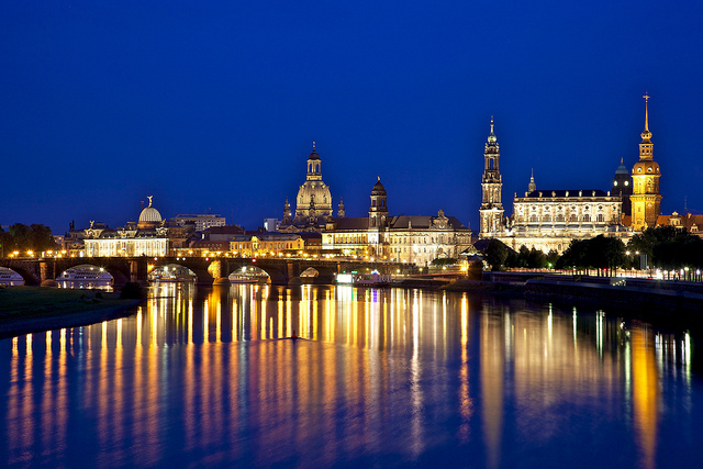 Dresden Alemania visto desde el puente