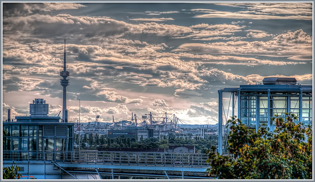 Munich Alemania visto desde la colina norte