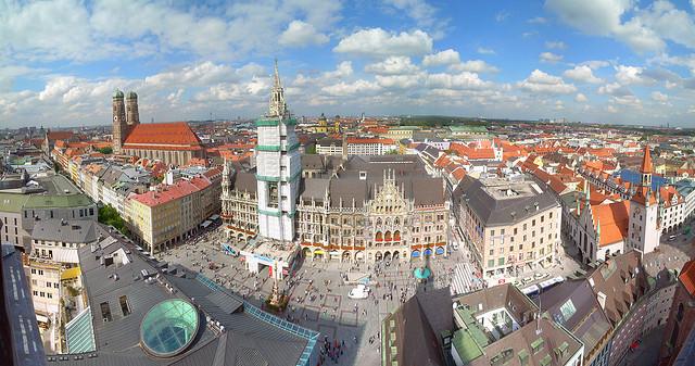 """La hermosa plaza """"Marienplaz"""" en Múnich"""
